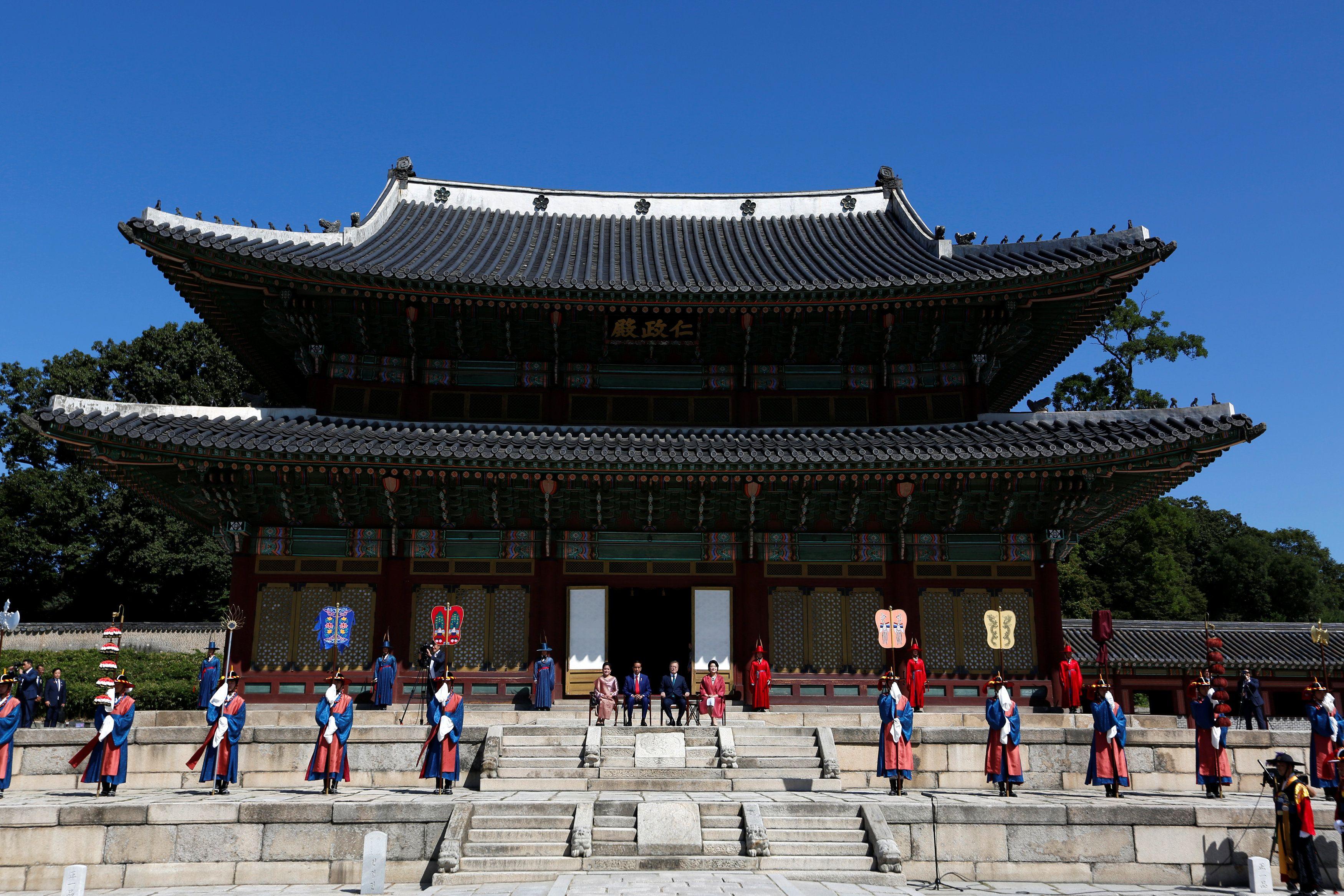 Indahnya istana changdeokgung istana tempat penyambutan jokowi di korea 3bddd9